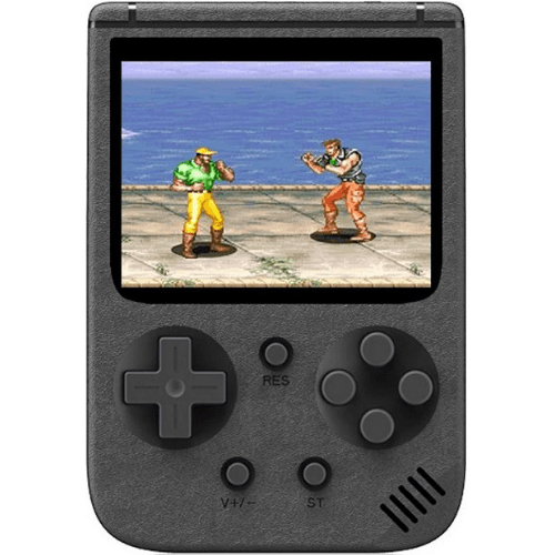 Rechargeable Mini Portable Retro Game Console New Sup 500 Games 3.0 Inch LCD Black