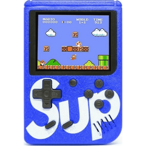Retro Portable Rechargeable Mini Game Console 8-Bit 400 games SUP game box G3602 Blue