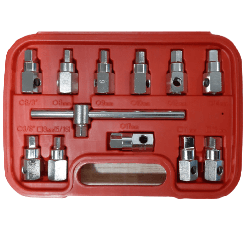 Socket Set Allen Wrench Ratchet CR-V In A Case 11-Piece SSA-11