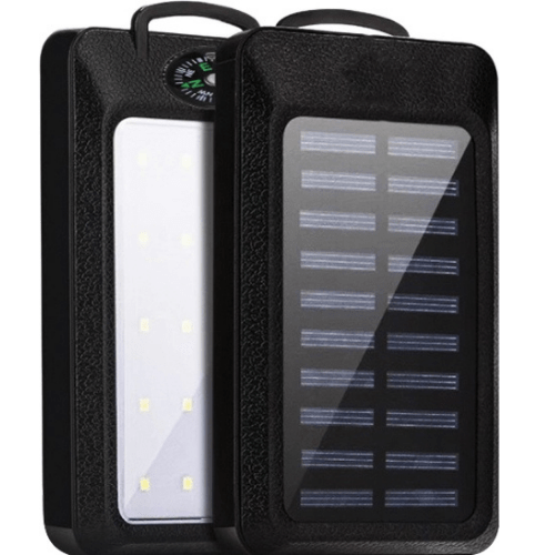 Solar Power Bank Solar Charger 10000mAh With Compass BLACK HY-708B