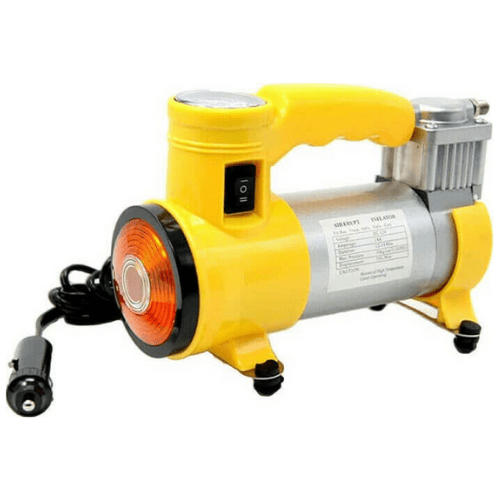 CYCLONE Portable Heavy Duty Car Air Compressor/Tire Inflator With Working Light, 12V, 150PSI, Yellow TS1657