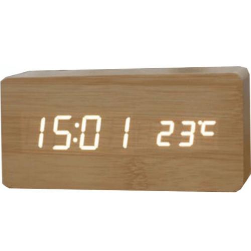 WOODEN DIGITAL CLOCK WITH TEMPERATURE WOODEN CLOCK WOODENCLOCK-02