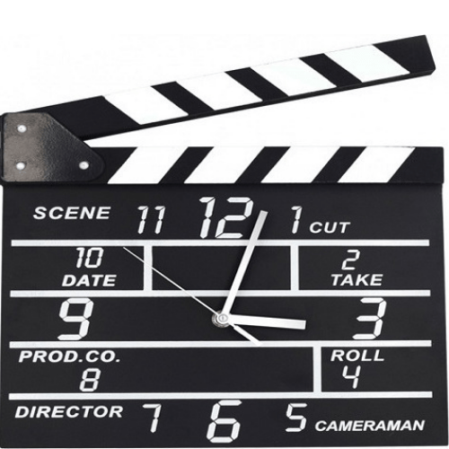 Wooden Analog Wall Clock In Director's Movie Set Clock OEM MSC-2055