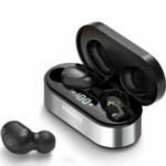 Fineblue AIR-55 Wireless Headphones With Charging Base Black In-ear Bluetooth Handsfree 706309