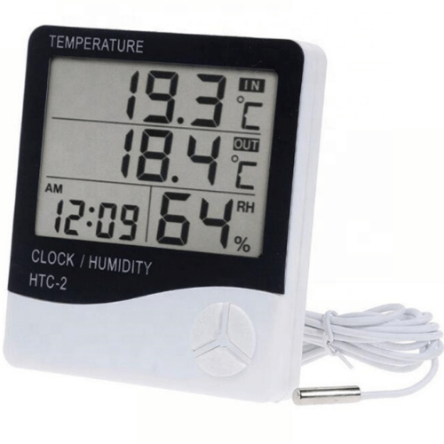 Alarm Clock Thermometer And Humidity Meter 3 in 1 With Large Screen And Memory Function HTC-2