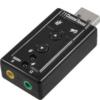 Audio Converter 7.1 Channel Sound USB A Male v2.0 port Virtual Adapter Mini Sa05002USB00BK-0301