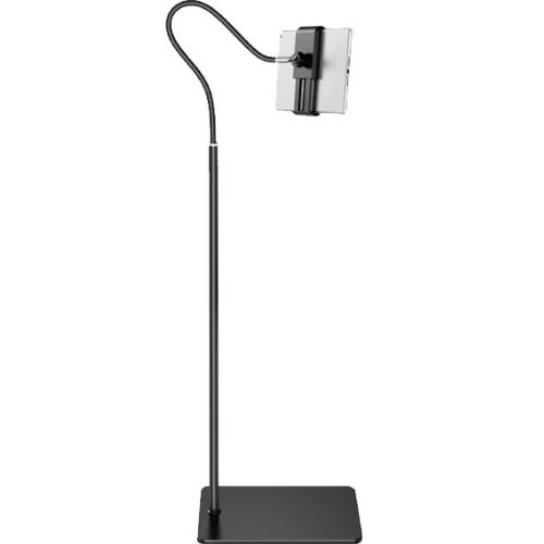 Floor Mounts Handsfree Mobile Tablet With Flexible Arm In Black Tablet Landing Lazy Bracket TLLB-295