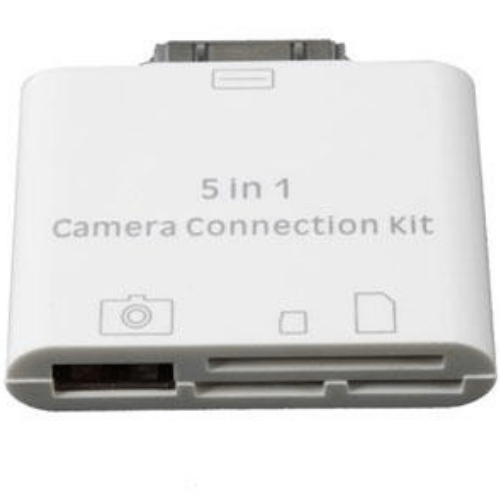 Connection Kit 5in1 for Ipad Camera Memory Keyboard White DR02-IPA