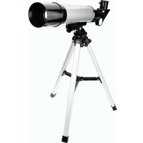 Amateur Astronomical Telescope OPTICAL GLASS END METAL TUBE with 90x Zoom, Tripod & Binoculars for Kids and Beginners F36050