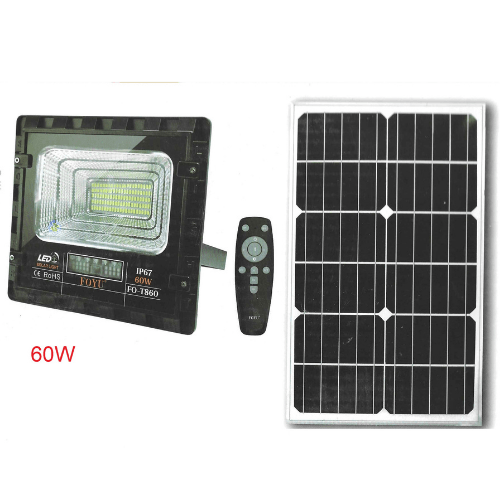 FOYU Solar LED Projector 60w With Display & Remote Control Waterproof IP67 F0-T860
