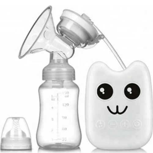 Happy Face Set Electric Automatic Rechargeable Breast Breast With Pump Baby Bottle Transparent White RH218