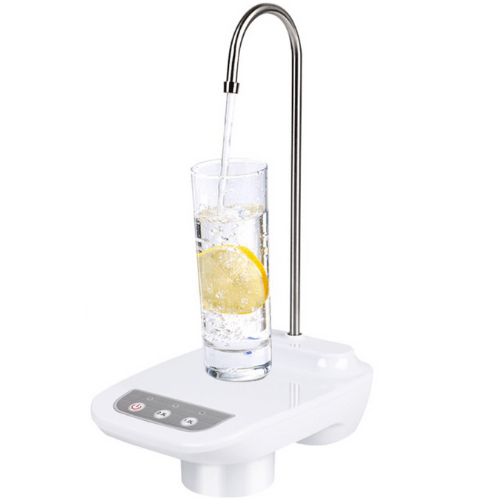 Rechargeable Automatic Water Bottle Pump With Silicone Base And Tube White JR-758