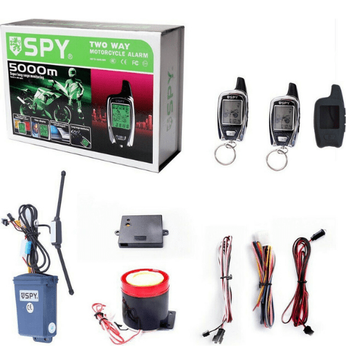 SPY TWO-WAY 5000m Motorcycle Alarm System With Remote Alarm And Perimeter MG50436