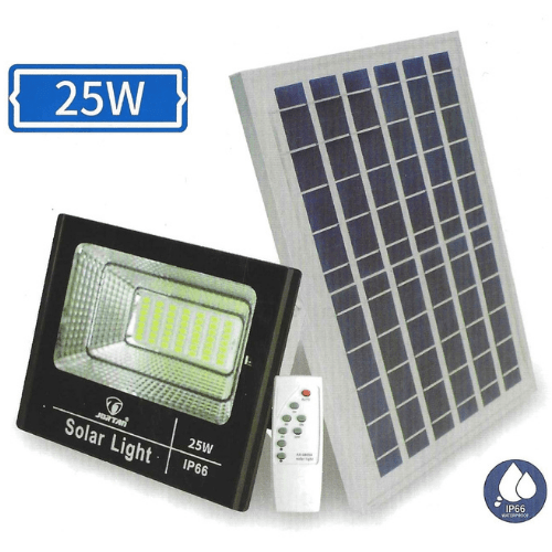 Jortan Solar Street Lamp 25W IP66 Waterproof With Photovoltaic Panel Zero Power Consumption Outdoor Street Lamp With Remote Control JSSL-25