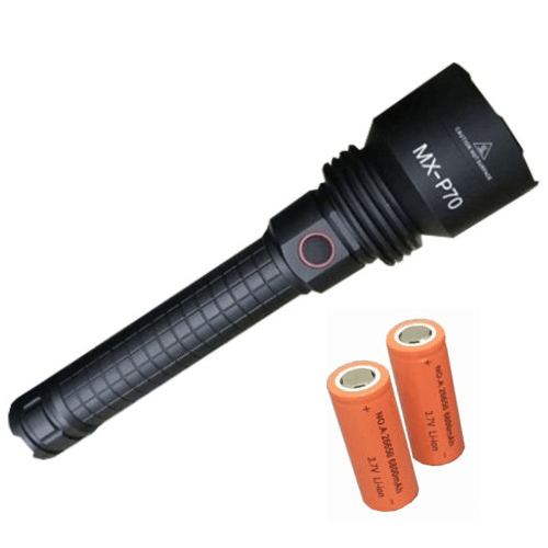 Flash Light Rechargeable SUPER High Brightness Lens CREE LED MX-P70