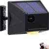 Upgraded Smart Solar Strobe Light with Motion Detector Solar Alarm Light with RF Remote 129db Sound Security Siren Light IP65 Waterproof 24 Hours+Night Mode for Home, Farm, Barn, Villa, Yard- Black B08PVV2RCM