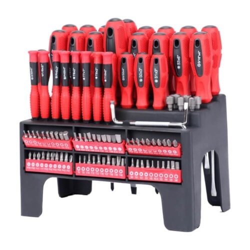 Driver World Screwdriver Magnet Set Of 100 Pieces With Plastic Shelf 5100-100A