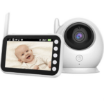 4.5 Inch Wireless Video Color Baby Monitor 360 Degree Monitor 2 Way Audio Reminder Temperature Monitor Motion Tracking ABM100S