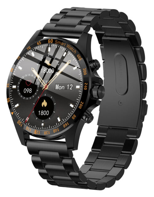 HiFuture Smartwatch, IP68, Heart rate control, YOUR STYLISH GEAR, Black Stainless steel, HiGEAR, 1.3″