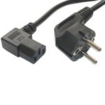POWERTECH PC power cord & screen 90 ° 1.5m, 3x 0.75mm², Black