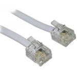 POWERTECH Telephone Cable RJ11 6P4C, 2m, CAB-T002 Gray