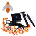 Solar Bee Garden 30 LED HS-33 with 8 Lighting Modes, Waterproof Christmas Digital Light Series 27601( (Warm White)