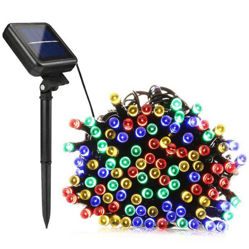 Solar Christmas Lights Colorful RGB Lighting – 200 LED Lights Indoor / Outdoor with Solar Panel
